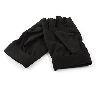 Unique Bargains Half Fingerless Cycling Motorcycle Sports Fitness Gloves Women