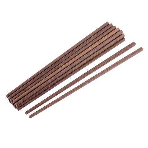 """Eco-friendly Wooden Chopsticks 10"""" Length Brown 10 Pairs"""