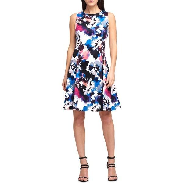 DKNY Womens Cocktail Dress Scuba Mini