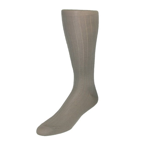 Vannucci Men's Cotton OTC Dress Socks (Pack of 3)