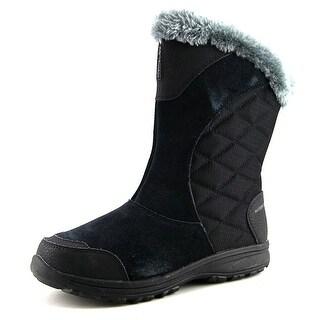 Columbia Ice Maiden II Slip Women  Round Toe Suede Black Winter Boot