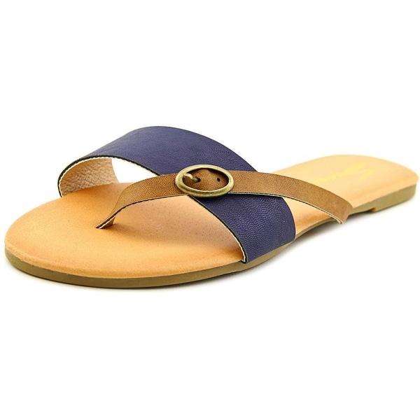 Seven7 Koopie Women  Open Toe Faux Leather  Thong Sandal