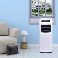 Costway 10000 BTU Portable Air Conditioner & Dehumidifier Function Remote w/ Window Kit - White