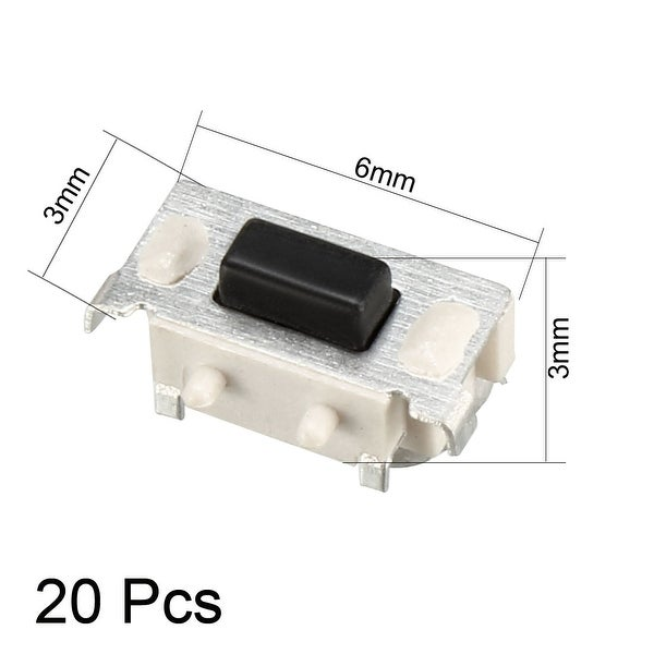 30 Pcs NEW  Momentary Tactile Tact Push Button Switch 2 Pin DIP 6x6x4.3mm