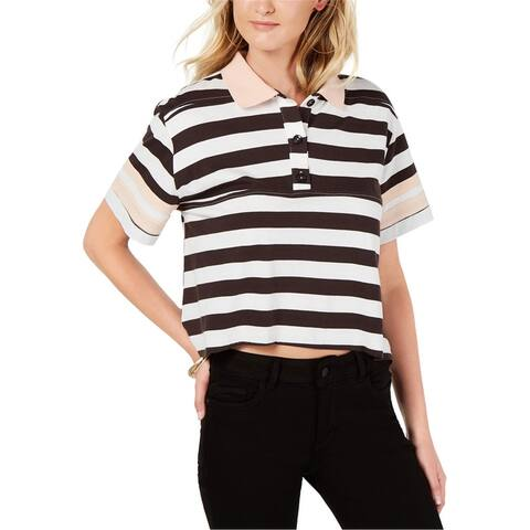 Rules Of Etiquette Womens Boxy Striped Polo Shirt