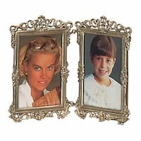 Picture Frame Antique Brass Frame 7.5H