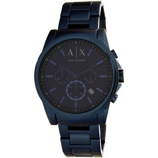 Armani Exchange Men's AX2512 Blue Stainless-Steel Quartz Dress Watch|https://ak1.ostkcdn.com/images/products/is/images/direct/2dd8c44216372f48220d53daf984aeb63dc129a5/Armani-Exchange-Men%27s-AX2512-Blue-Stainless-Steel-Quartz-Dress-Watch.jpg?impolicy=medium