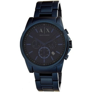 Armani Exchange Men's AX2512 Blue Stainless-Steel Quartz Dress Watch