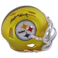 Antonio Brown Signed Pittsburgh Steelers Blaze Mini Helmet JSA