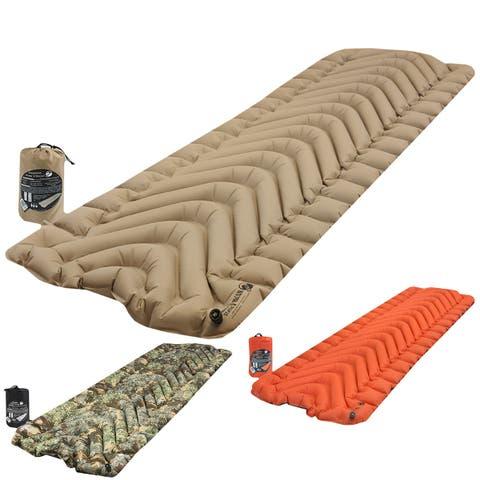 Klymit Insulated Static V Inflatable 4-Season Sleeping Pad