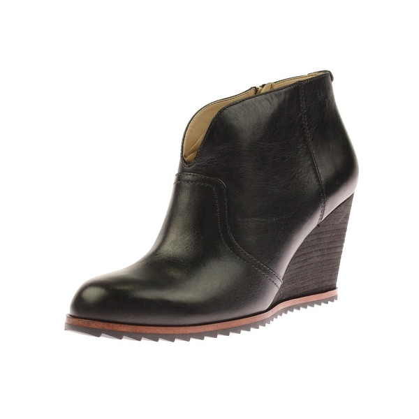 Dr. Scholl's Womens Inda Ankle Boots Leather Wedge