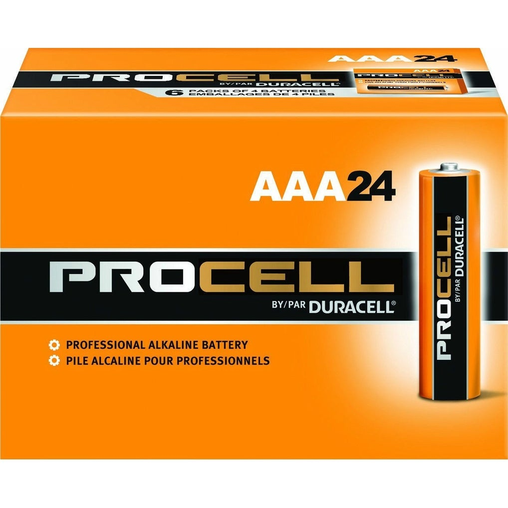 Duracell PC2400BKD Procell Professional AAA Alkaline Battery, 1.5V, 24-Count