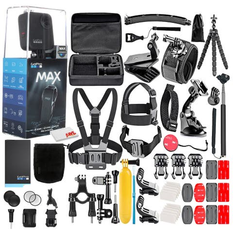 GoPro MAX 360 Waterproof Action Camera --With 50 Piece Accessory Kit
