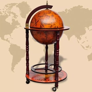 Link to vidaXL Globe Bar Wine Stand Eucalyptus Wood Similar Items in Decorative Accessories