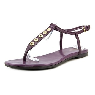 Cole Haan Effie Sandal Women Open Toe Leather Purple Thong Sandal