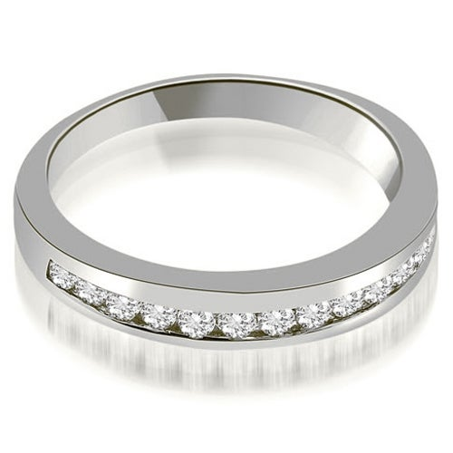 0.45 cttw. 14K White Gold Classic Channel Round Cut Diamond Wedding Band