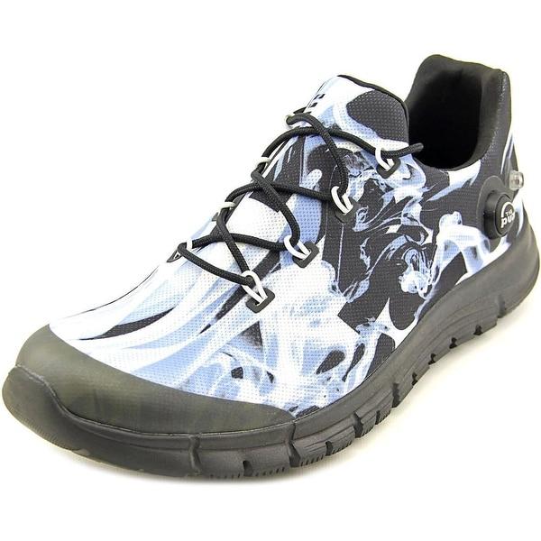 Reebok ZPump Fusion Flame Men Round Toe Canvas Running Shoe