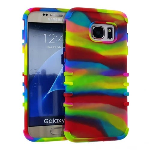 Rocker Series Slim Skin Protector Case for Samsung Galaxy S7 (Rainbow)