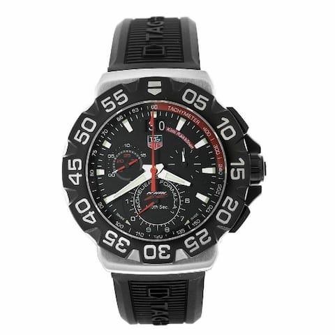 Tag Heuer Men's CAH1014.BT0718 'Formula 1 Grande' Chronograph Black Rubber Watch