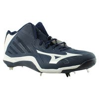 Mizuno Mens Heist Iq Navy/White Baseball Cleats Size 16