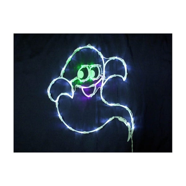 "Christmas at Winterland LED-35LGHOST-18 Halloween 24"" Wide 35 Light LED Ghost Window Display - purple/green/white - N/A"