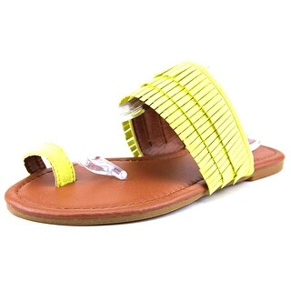 Qupid Archer-27 Open Toe Synthetic Flip Flop Sandal