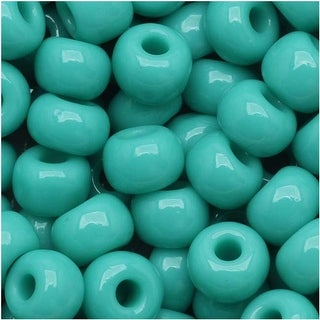 Link to Czech Seed Beads 6/0 Green Turquoise Opaque (1 Ounce) Similar Items in Jewelry & Beading