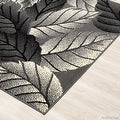 """Allstar Grey Area Rug. Contemporary. Abstract. Traditional. Geometric. Formal. Shapes. Squares (5' 2"""" x 7' 1"""") - Thumbnail 2"""