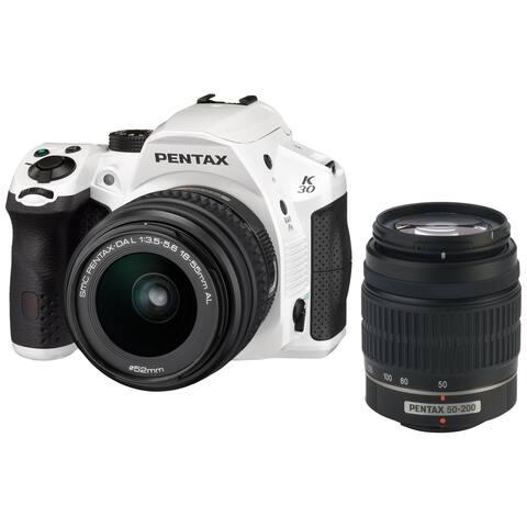 Pentax K-30 Weather-Sealed 16MP CMOS Digital SLR Dual Lens Kit,