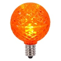 Club Pack of 25 LED G40 Orange Faceted Replacement Christmas Light Bulbs