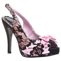 Bettie Page Women's Laverna Black/Pink