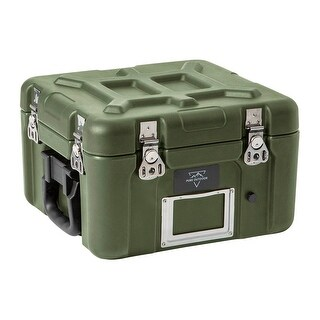 Monoprice Rotomodeled Weatherproof Case - Green ( 12 X 11 x 9 inches) With Customizable Foam - Pure Outdoor Collection