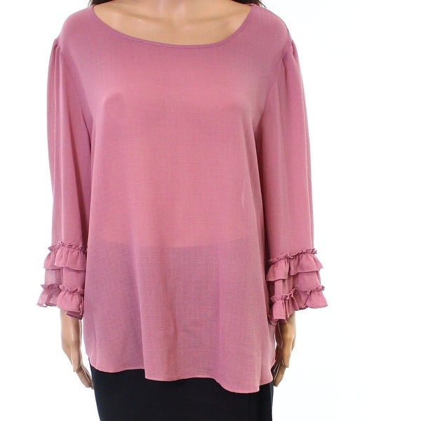 d94d372c8d8 Shop Max Studio NEW Purple Mauve Women s Size Large L Tiered-Sleeve Blouse  - Free Shipping On Orders Over  45 - Overstock - 21907659