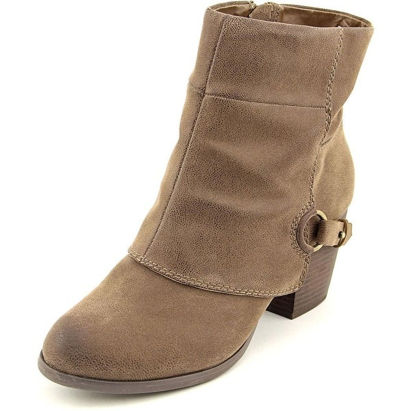 Fergalicious Liza Women Round Toe Synthetic Brown Ankle Boot