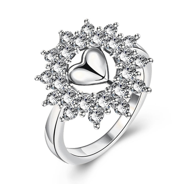Lovely Love White Gold Ring