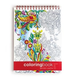 Garden Paths Adult Coloring Book