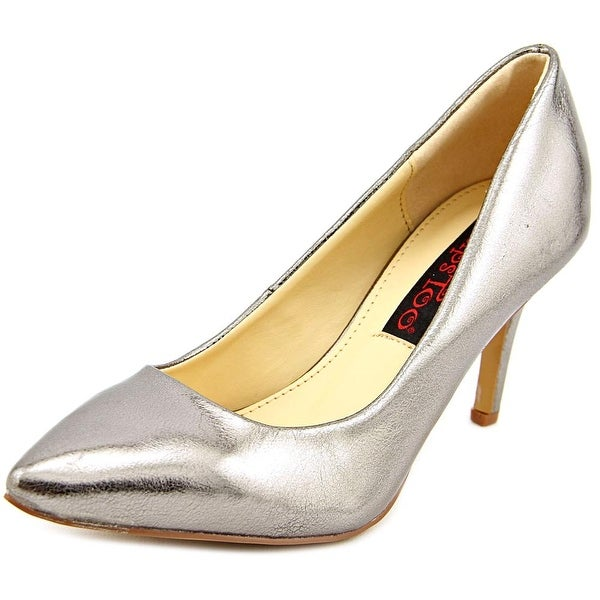 2 Lips Too Too Zane Women Pointed Toe Synthetic Silver Heels