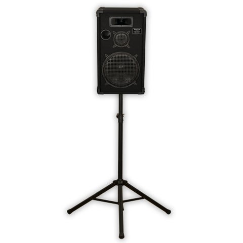 "Podium Pro E1200C Passive 12"" DJ Speaker and Stand 500 Watts for PA Band Karaoke"