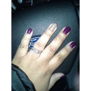 14k White Gold Certified 1ct TDW Diamond Bridal Ring Set by Miadora Signature