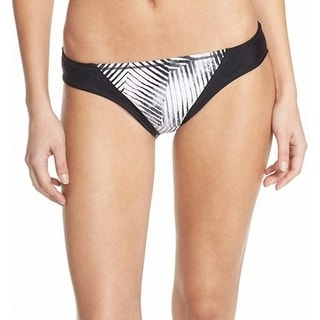 ZELLA NEW White Black Women's Size Medium M Bikini Bottom Swimwear