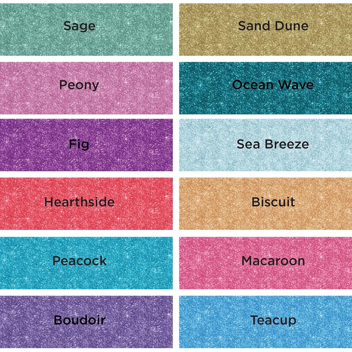 Country Charm Spectrum Noir Sparkle Glitter Brush Pens Set of 6 NEW