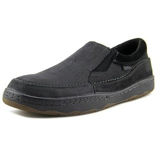 Simple Post-1 Men Round Toe Leather Loafer