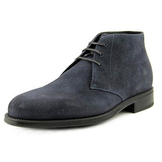 Salvatore Ferragamo Pioneer Youth EW Round Toe Suede Chukka Boot