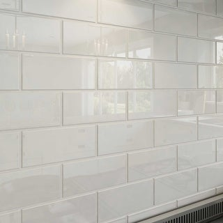 Cool White Subway Tiles (5.5 Square Feet) (44 Pieces per Unit)