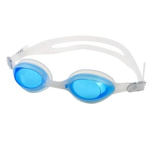 Unique Bargains Elastic Silicone Strap Clear Aqua Swimming Goggles Swim Glasses w Spectacle Case