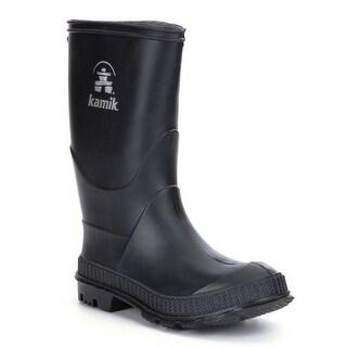 Kamik Boys Stomp Leather Knee High Pull On Rain Boots - 7 m us boys
