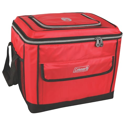 Coleman 40 can collapsible cooler red