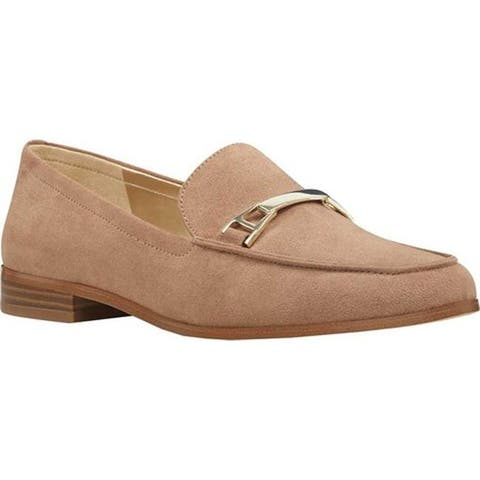 Bandolino Women's Lapenta Loafer Dark Natural Faux Suede