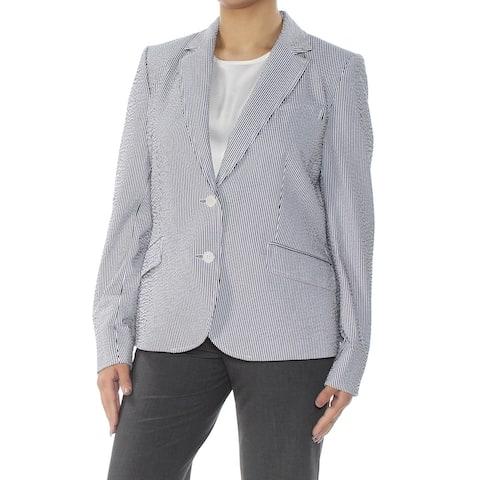 ANNE KLEIN Black Blazer Jacket Size 8