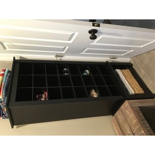 Read All Reviews For Prepac Broadway Black Wood Tall Shoe Cubbie Cabinet
